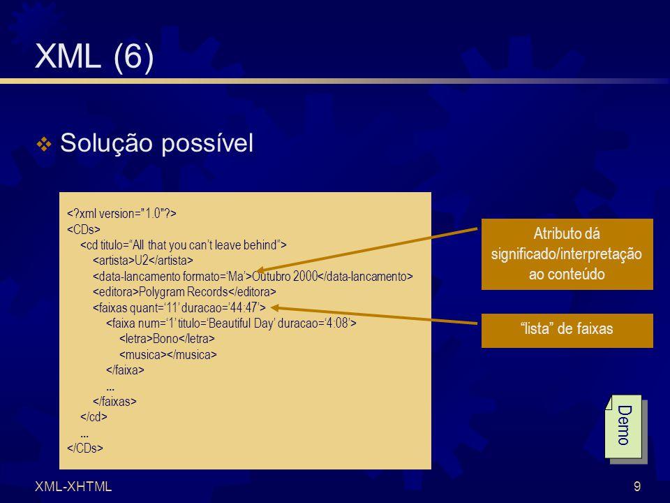 XML-XHTML9 XML (6)  Solução possível U2 Outubro 2000 Polygram Records Bono......