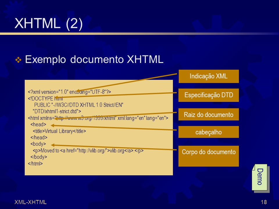 XML-XHTML18 <!DOCTYPE html PUBLIC -//W3C//DTD XHTML 1.0 Strict//EN DTD/xhtml1-strict.dtd > Virtual Library Moved to vlib.org.