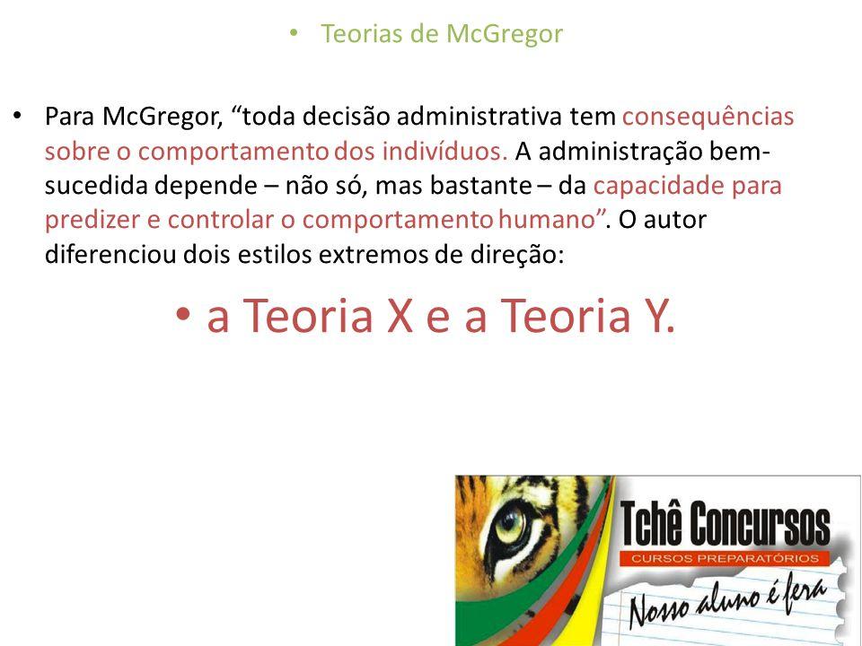"""• Teorias de McGregor • Para McGregor, """"toda decisão administrativa tem consequências sobre o comportamento dos indivíduos. A administração bem- suced"""