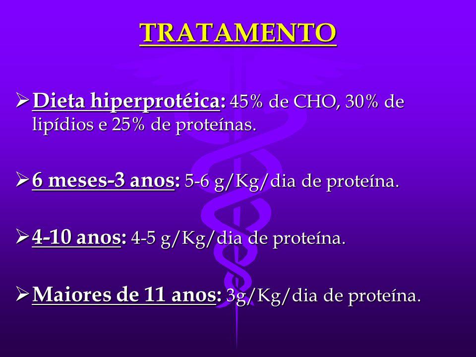 TRATAMENTO  S/ restrição de frutose e galactose (gliconeogênese está normal).  Alto teor de carboidratos melhoram a glicemia, hepatomegalia, fraquez