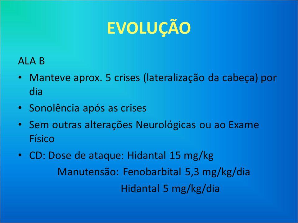 EVOLUÇÃO ALA B • Manteve aprox.