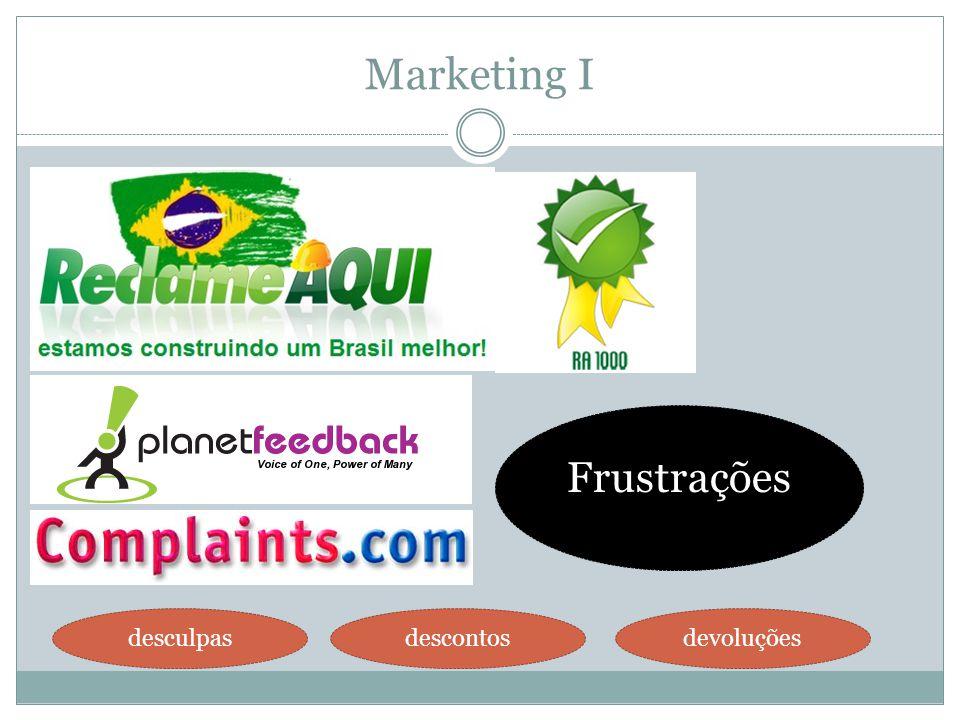 Marketing I Frustrações desculpasdescontosdevoluções