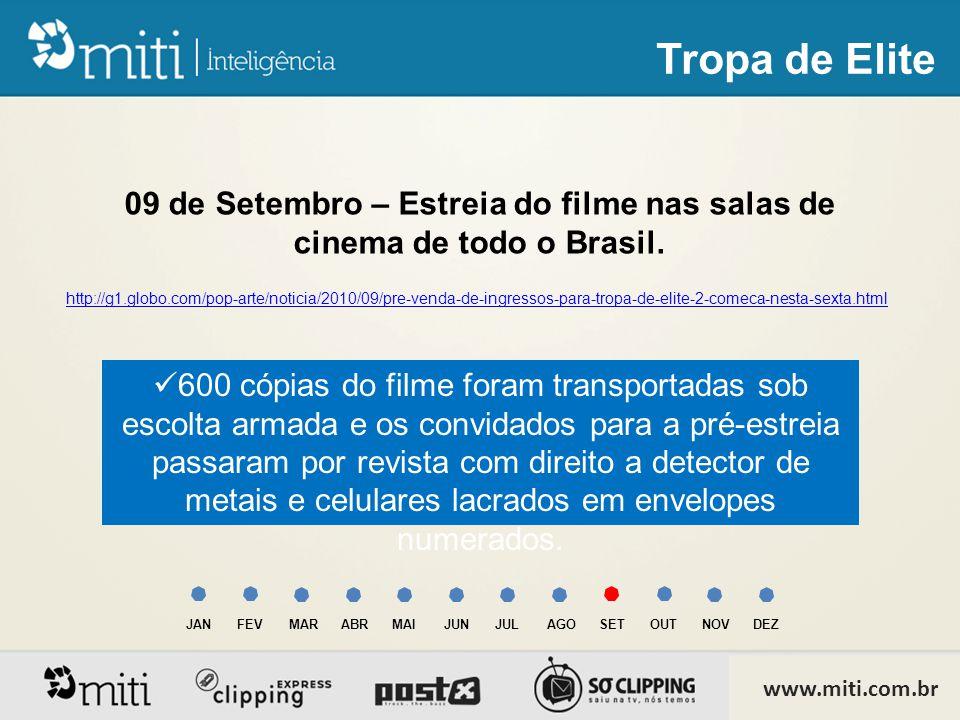 09 de Setembro – Estreia do filme nas salas de cinema de todo o Brasil.