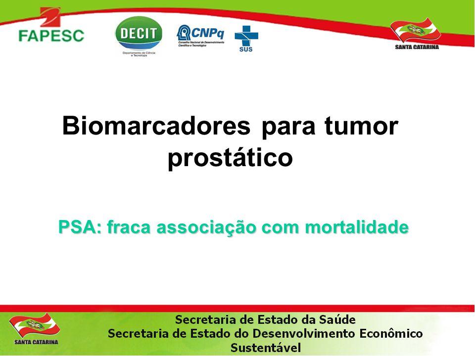 Biomarcadores para tumor prostático PSA: fraca associação com mortalidade