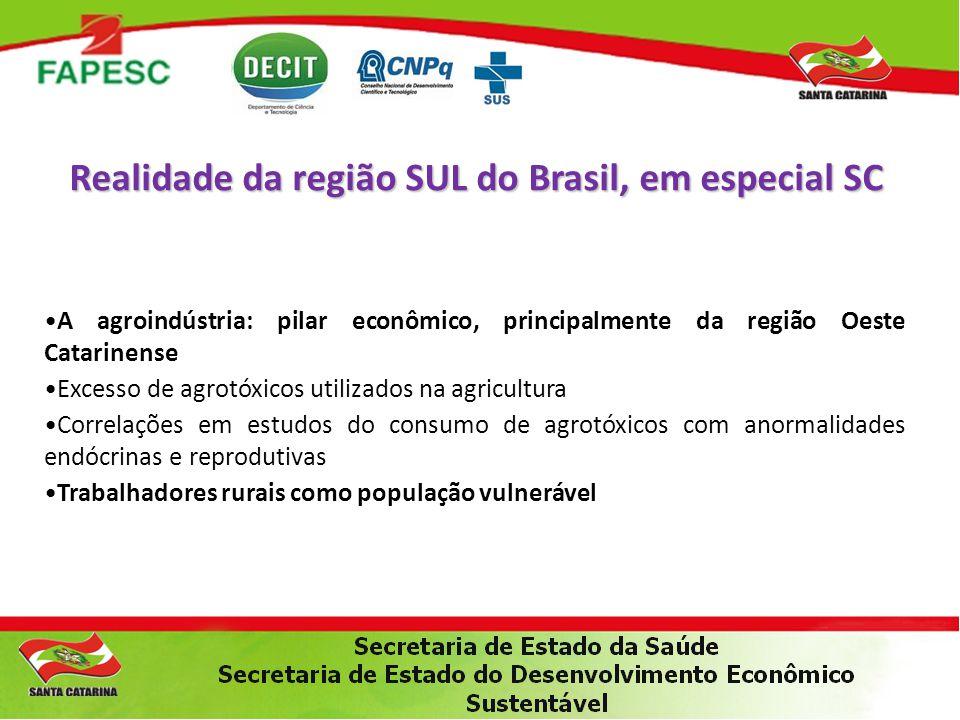 •A agroindústria: pilar econômico, principalmente da região Oeste Catarinense •Excesso de agrotóxicos utilizados na agricultura •Correlações em estudo