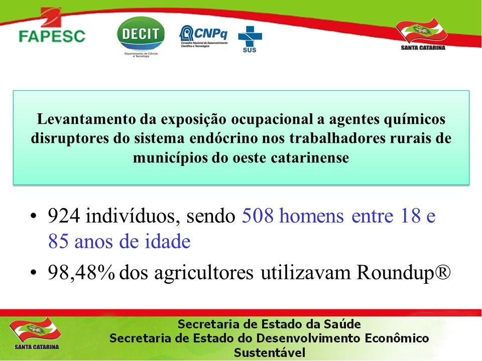 Levantamento da exposição ocupacional a agentes químicos disruptores do sistema endócrino nos trabalhadores rurais de municípios do oeste catarinense