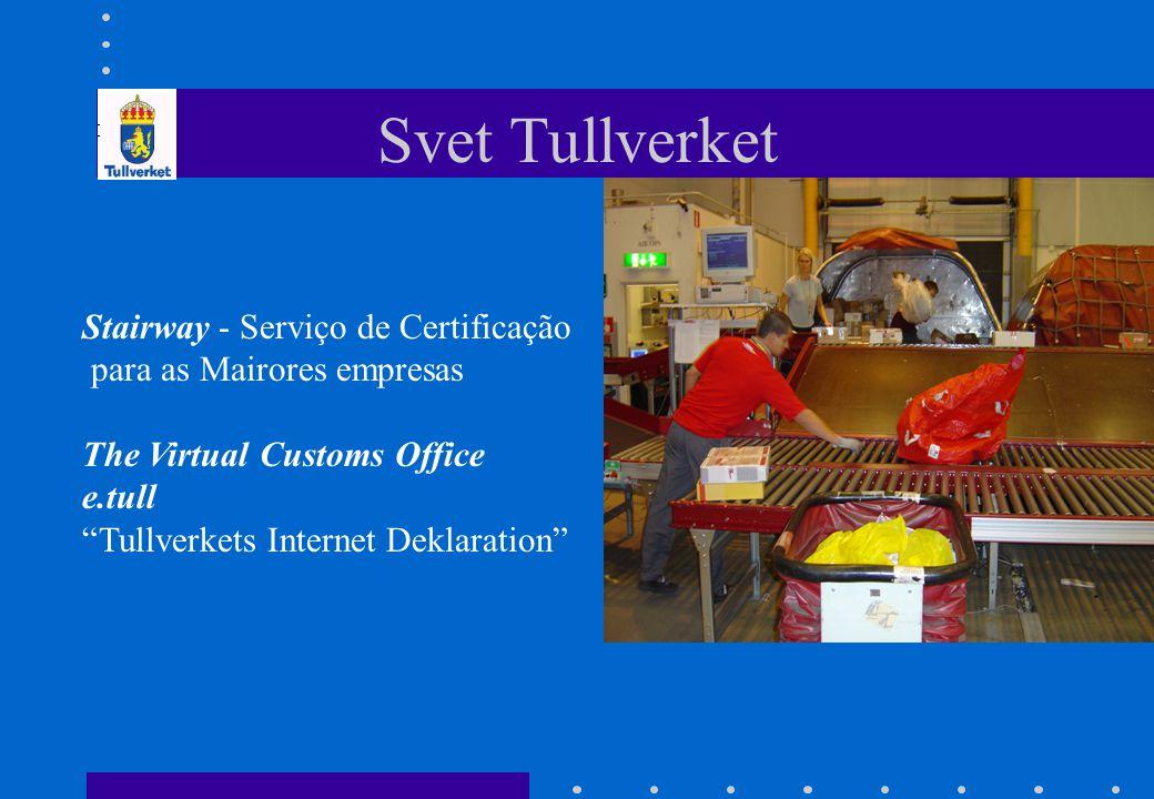 "Svet Tullverket Stairway - Serviço de Certificação para as Mairores empresas The Virtual Customs Office e.tull ""Tullverkets Internet Deklaration"""