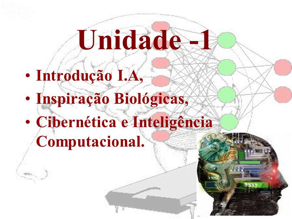 •Introdução I.A, •Inspiração Biológicas, •Cibernética e Inteligência Computacional. Unidade -1
