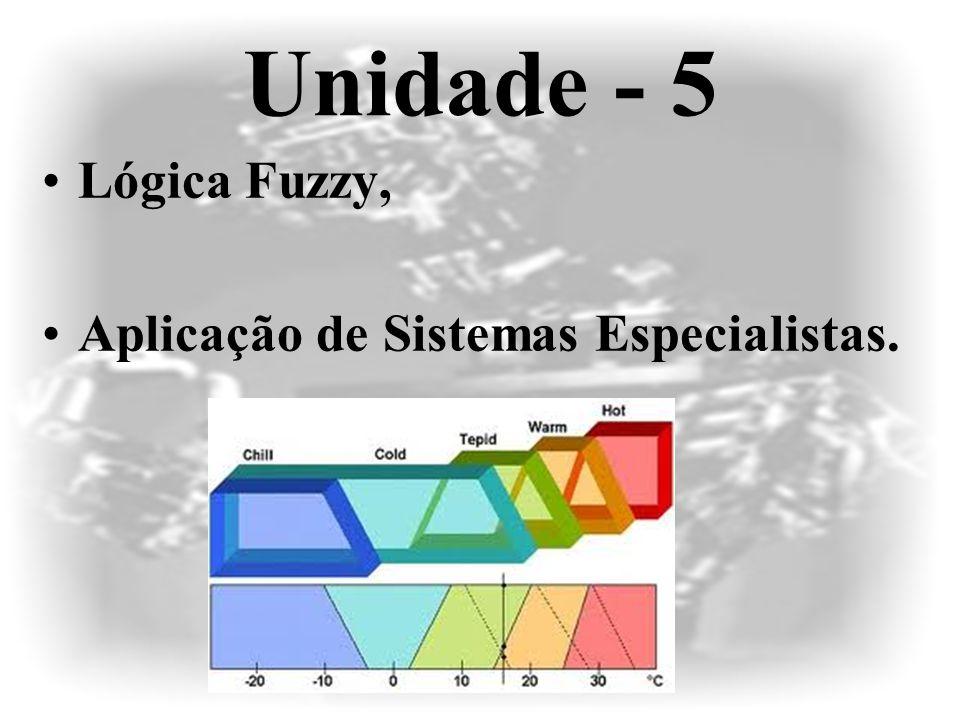 Unidade - 5 •Lógica Fuzzy, •Aplicação de Sistemas Especialistas.