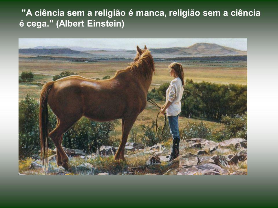 A ciência sem a religião é manca, religião sem a ciência é cega. (Albert Einstein)