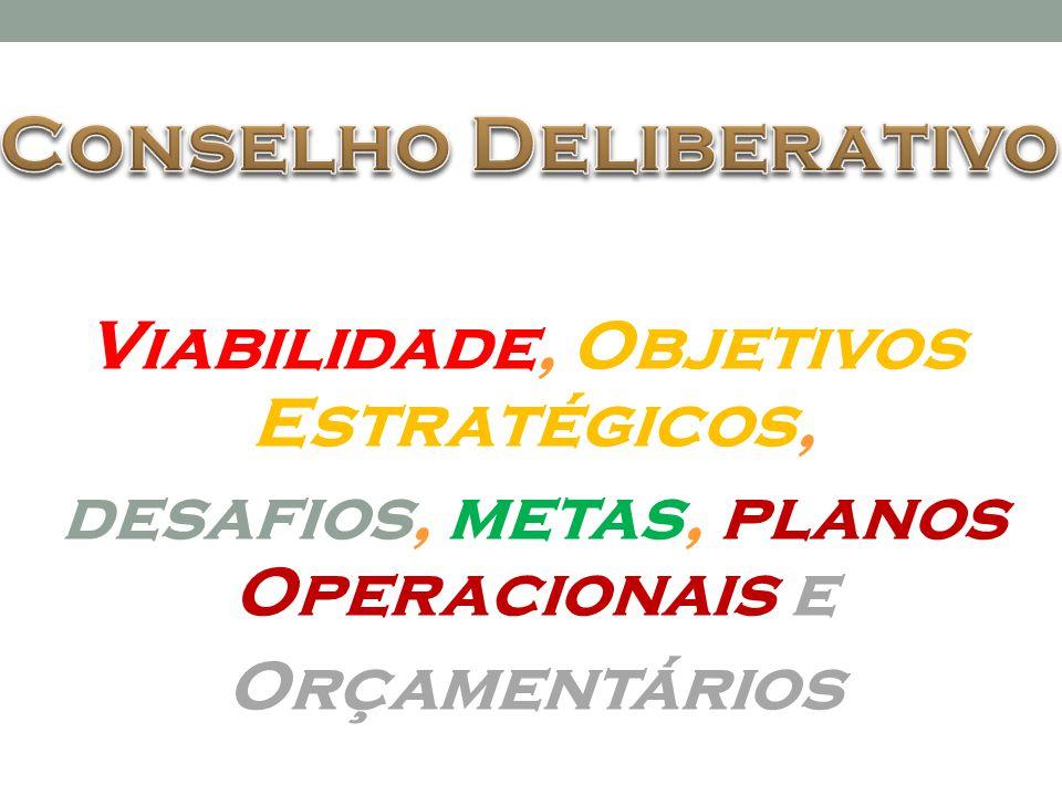 Viabilidade, Objetivos Estratégicos, desafios, metas, planos Operacionais e Orçamentários