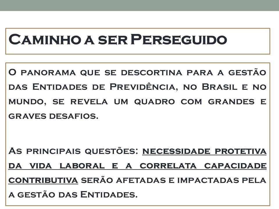 Caminho a ser Perseguido O panorama que se descortina para a gestão das Entidades de Previdência, no Brasil e no mundo, se revela um quadro com grandes e graves desafios.