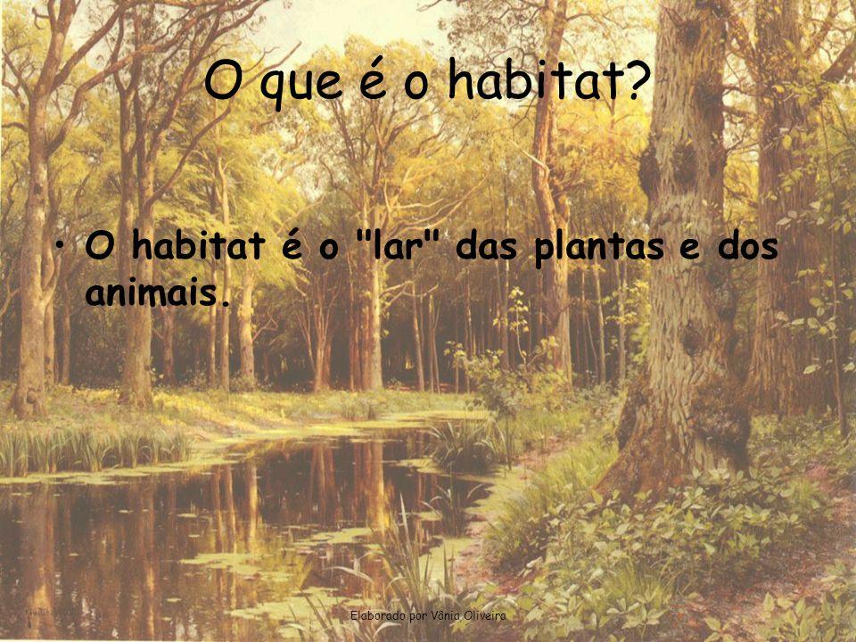 Elaborado por Vânia Oliveira O que é o habitat? •O habitat é o