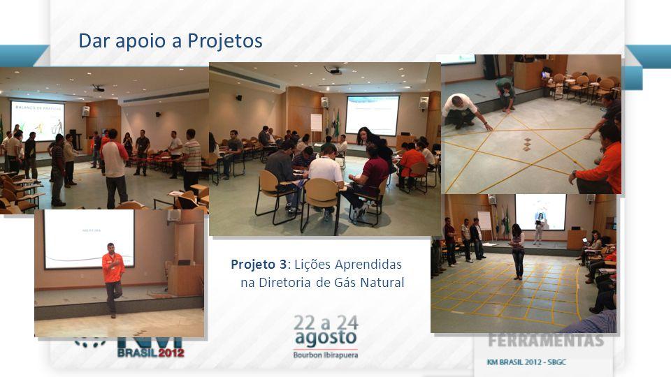 Dar apoio a Projetos Projeto 3: Lições Aprendidas na Diretoria de Gás Natural
