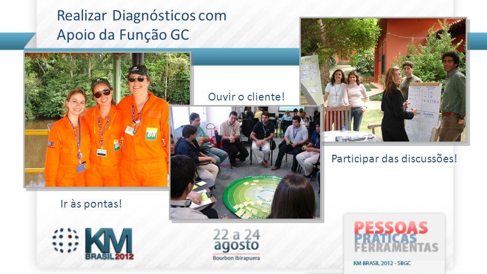 Realizar Diagnósticos com Apoio da Função GC Ir às pontas! Ouvir o cliente! Participar das discussões!