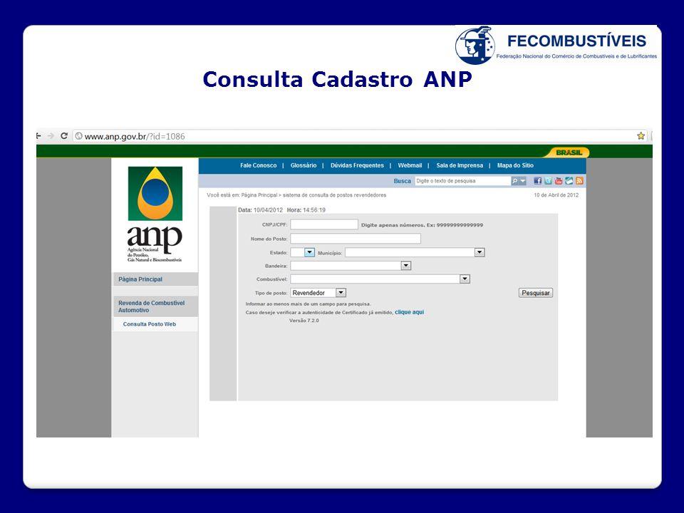 Consulta Cadastro ANP XX