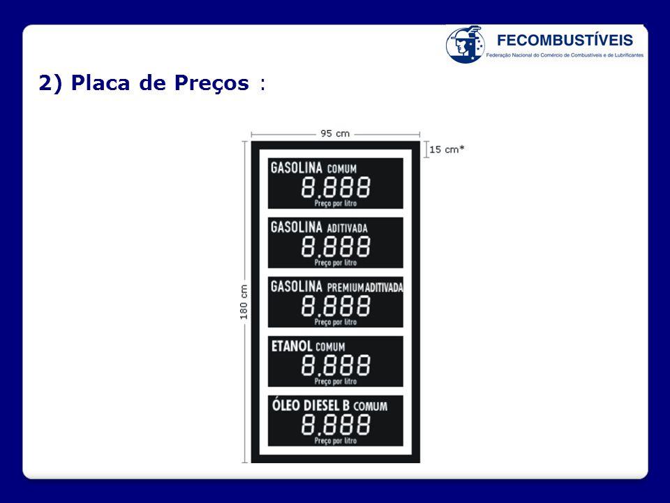 2) Placa de Preços :