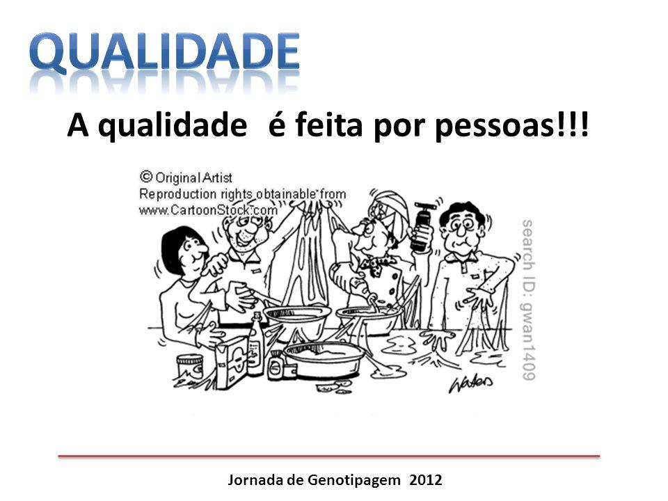 Jornada de Genotipagem 2012 A qualidade é feita por pessoas!!!