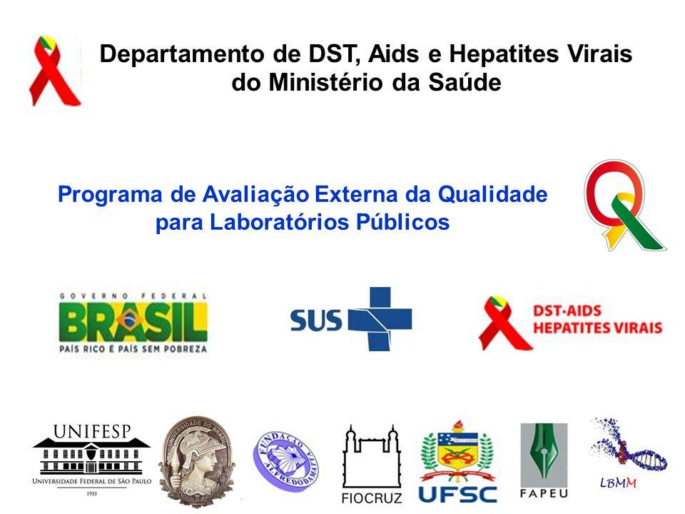 Programa de Avaliação Externa da Qualidade para Laboratórios Públicos Departamento de DST, Aids e Hepatites Virais do Ministério da Saúde