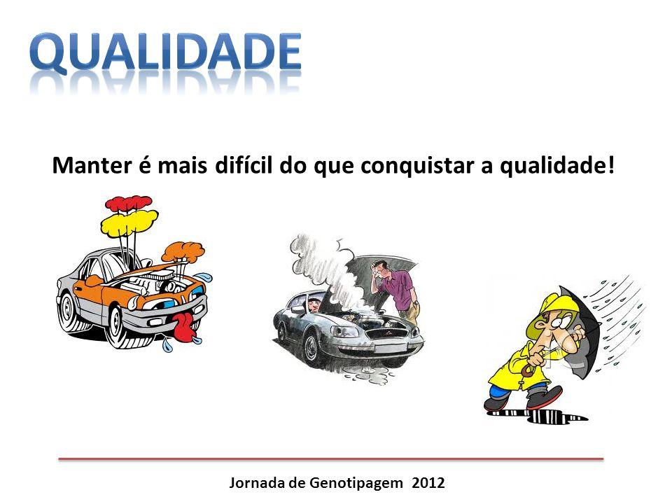 Jornada de Genotipagem 2012 Manter é mais difícil do que conquistar a qualidade!