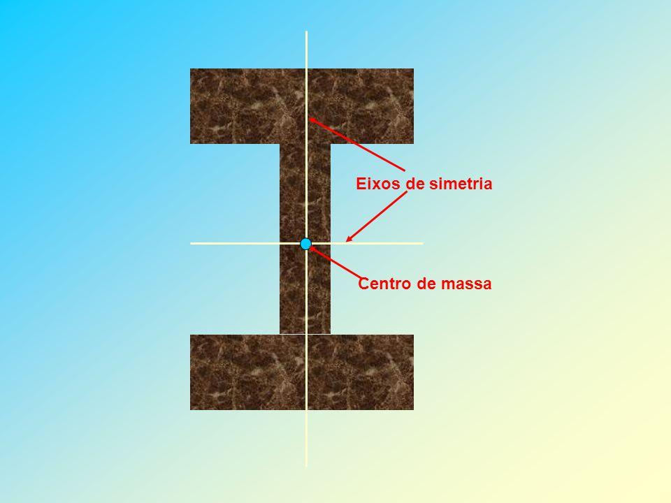 4 – DETERMINAÇÃO EXPERIMENTAL DO CENTRO DE MASSA Seja determinar o centro de massa do corpo indicado na figura.