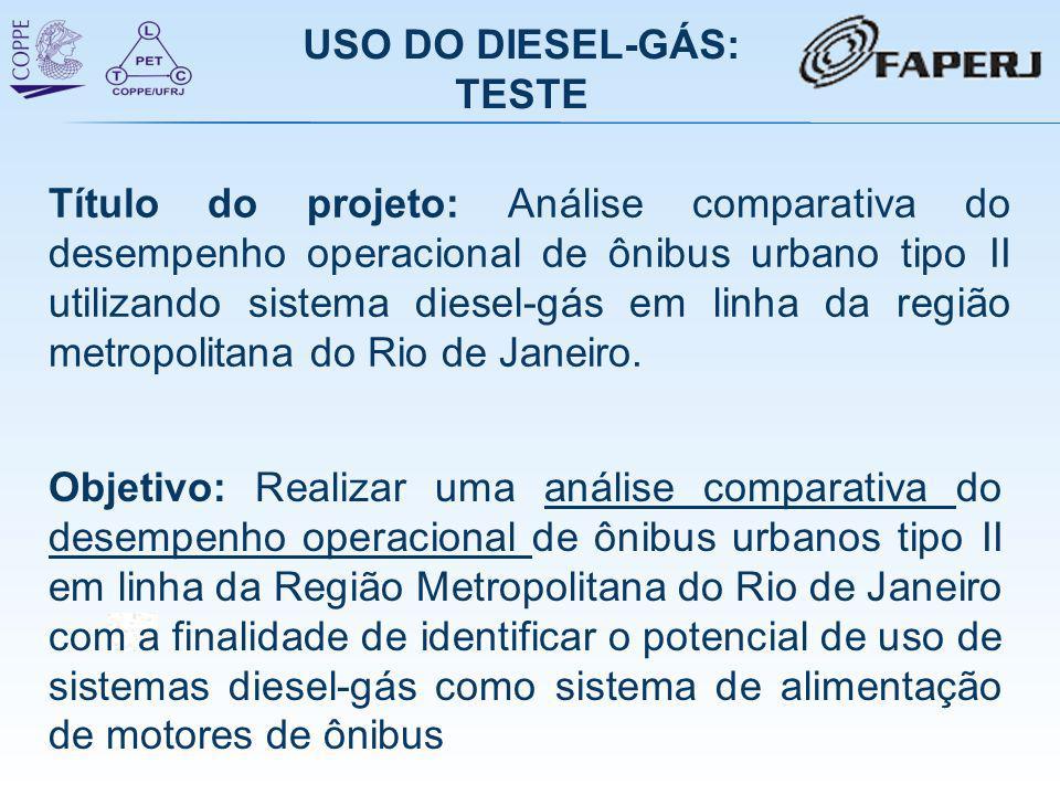 Objetivo: Realizar uma análise comparativa do desempenho operacional de ônibus urbanos tipo II em linha da Região Metropolitana do Rio de Janeiro com