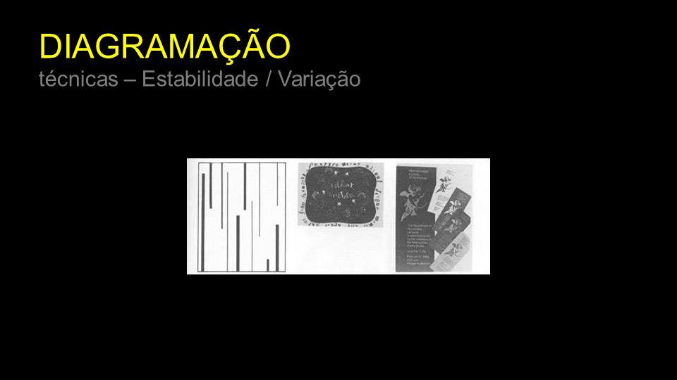 DIAGRAMAÇÃO técnicas – Estabilidade / Variação
