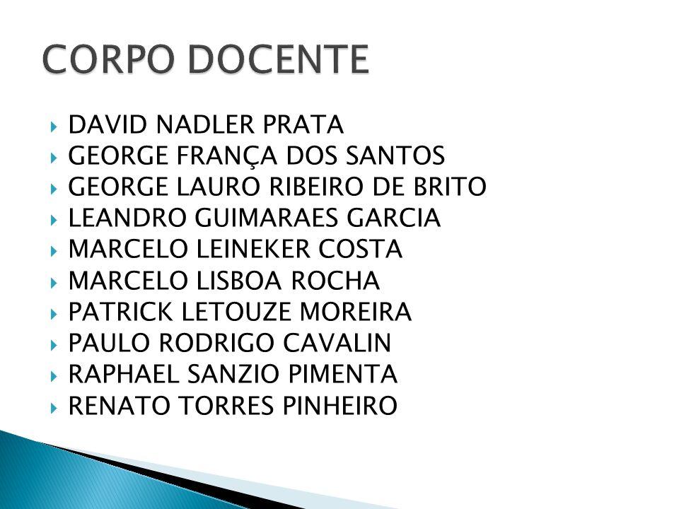  DAVID NADLER PRATA  GEORGE FRANÇA DOS SANTOS  GEORGE LAURO RIBEIRO DE BRITO  LEANDRO GUIMARAES GARCIA  MARCELO LEINEKER COSTA  MARCELO LISBOA R