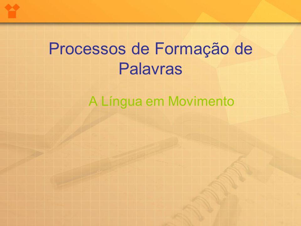 Processos de Formação de Palavras A Língua em Movimento