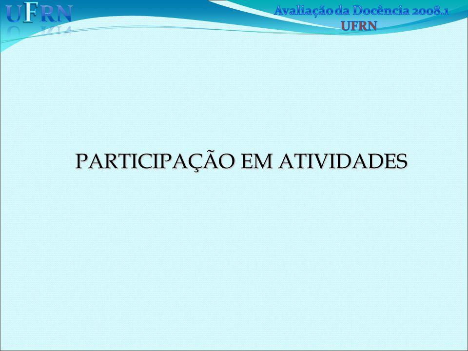 PARTICIPAÇÃO EM ATIVIDADES