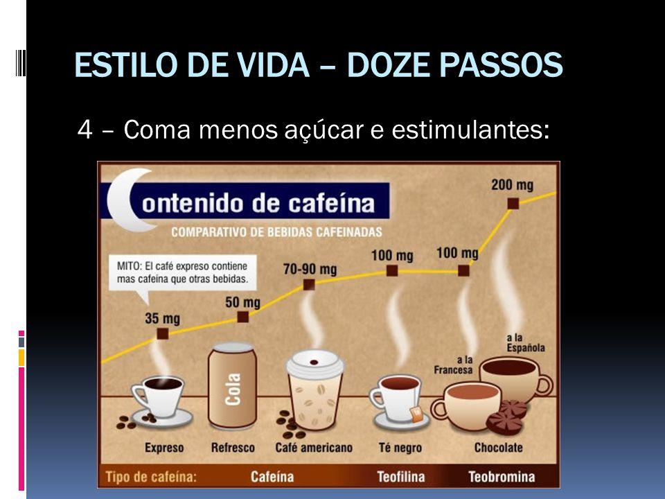 ESTILO DE VIDA – DOZE PASSOS 4 – Coma menos açúcar e estimulantes: