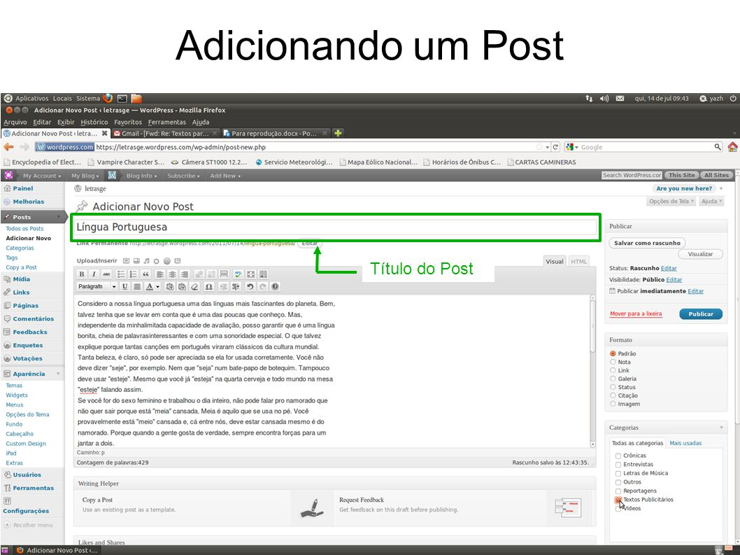 Título do Post