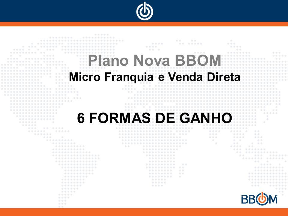 Plano Nova BBOM Micro Franquia e Venda Direta 6 FORMAS DE GANHO