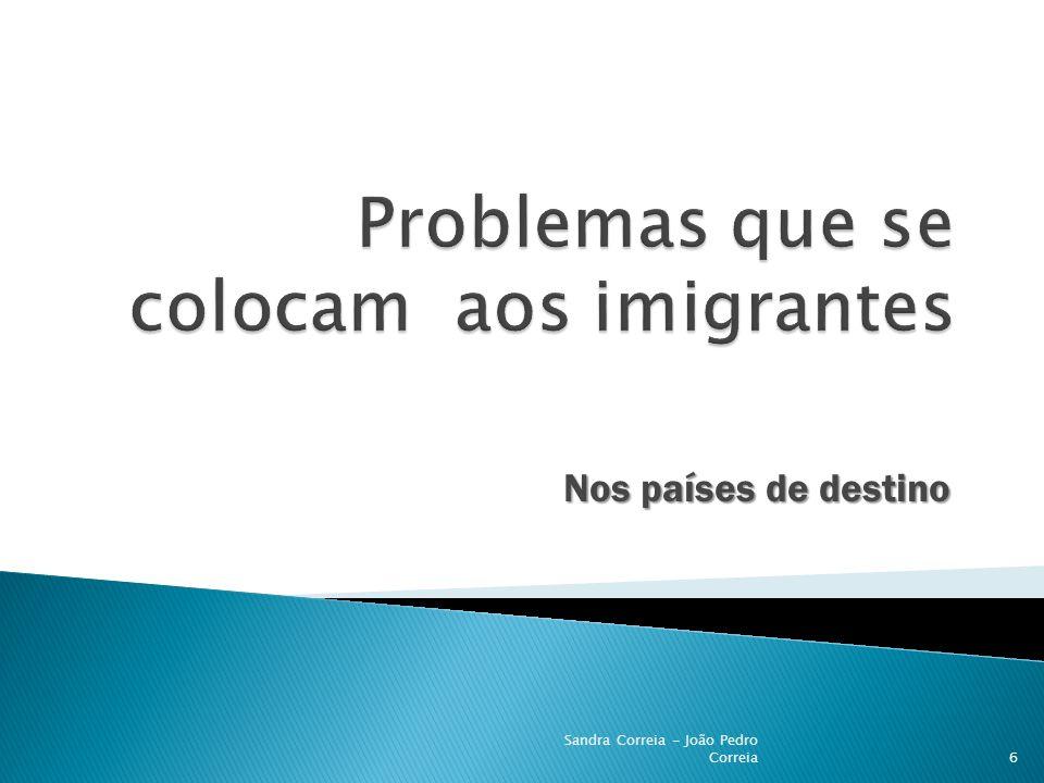 De acolhimento de imigrantes 7 Sandra Correia - João Pedro Correia