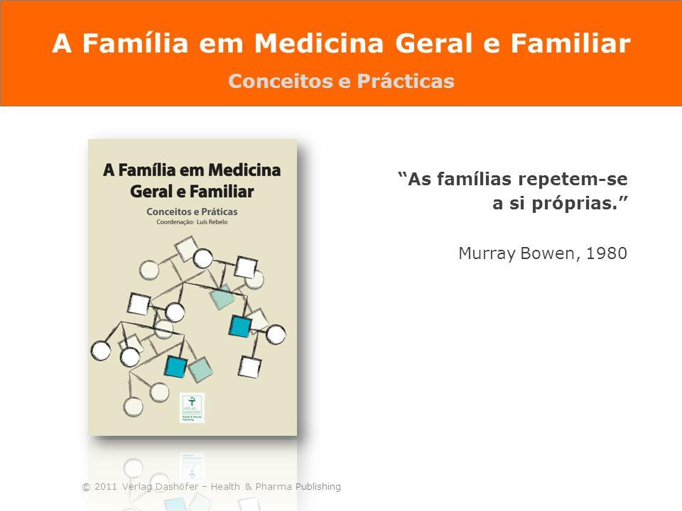"""© 2011 Verlag Dashöfer – Health & Pharma Publishing """"As famílias repetem-se a si próprias."""" Murray Bowen, 1980 A Família em Medicina Geral e Familiar"""