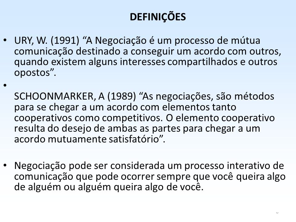 6 DEFINIÇÕES • URY, W.