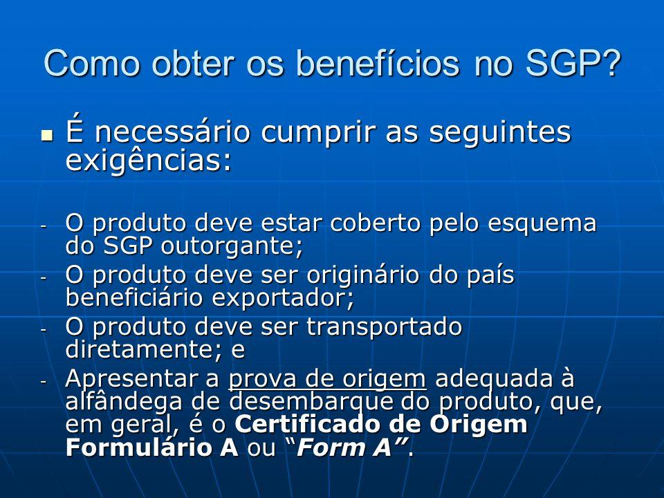 Como obter os benefícios no SGP.