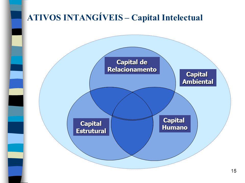 15 Capital Ambiental Capital Humano Capital de Capital de Relacionamento Capital Estrutural ATIVOS INTANGÍVEIS – Capital Intelectual