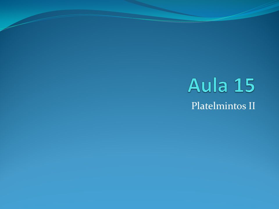 Platelmintos II
