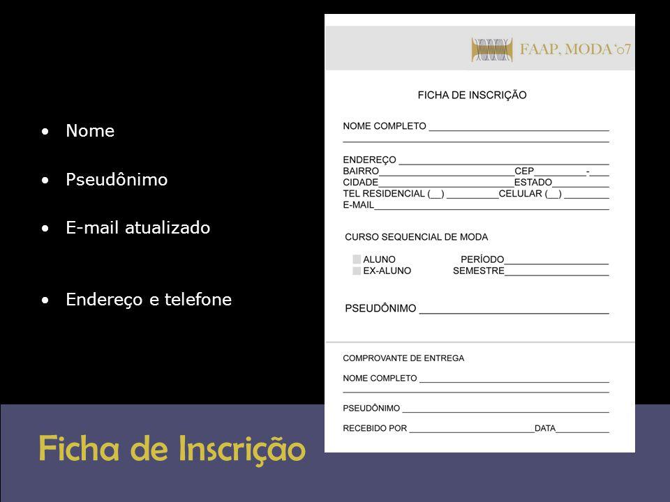 Critério de avaliação do Júri Professores da Faap, o coordenador do curso de moda.