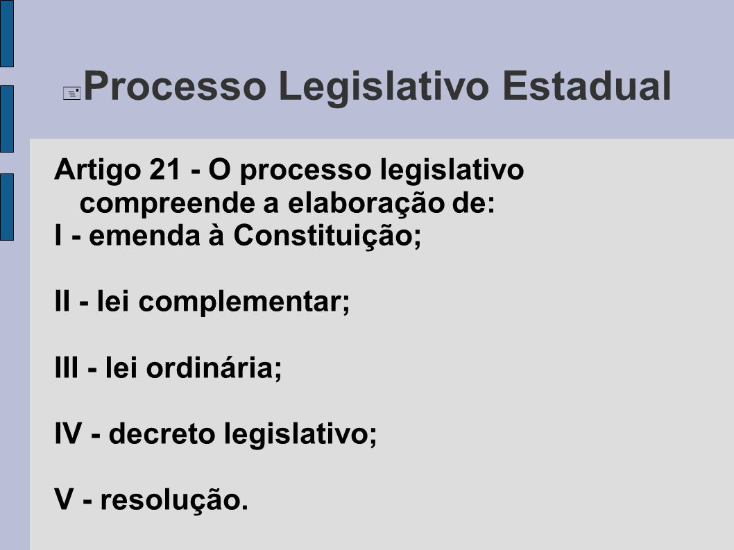  Processo Legislativo Federal Art.59.