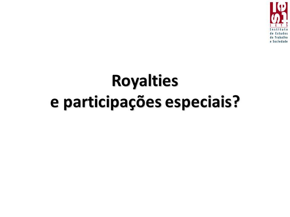 Royalties e participações especiais?