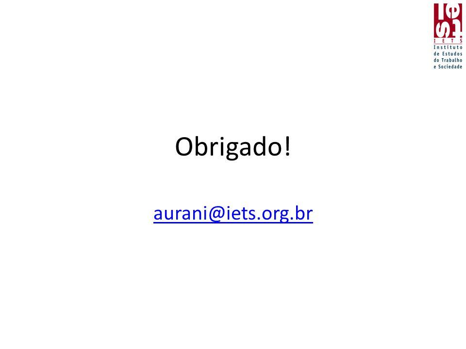 Obrigado! aurani@iets.org.br