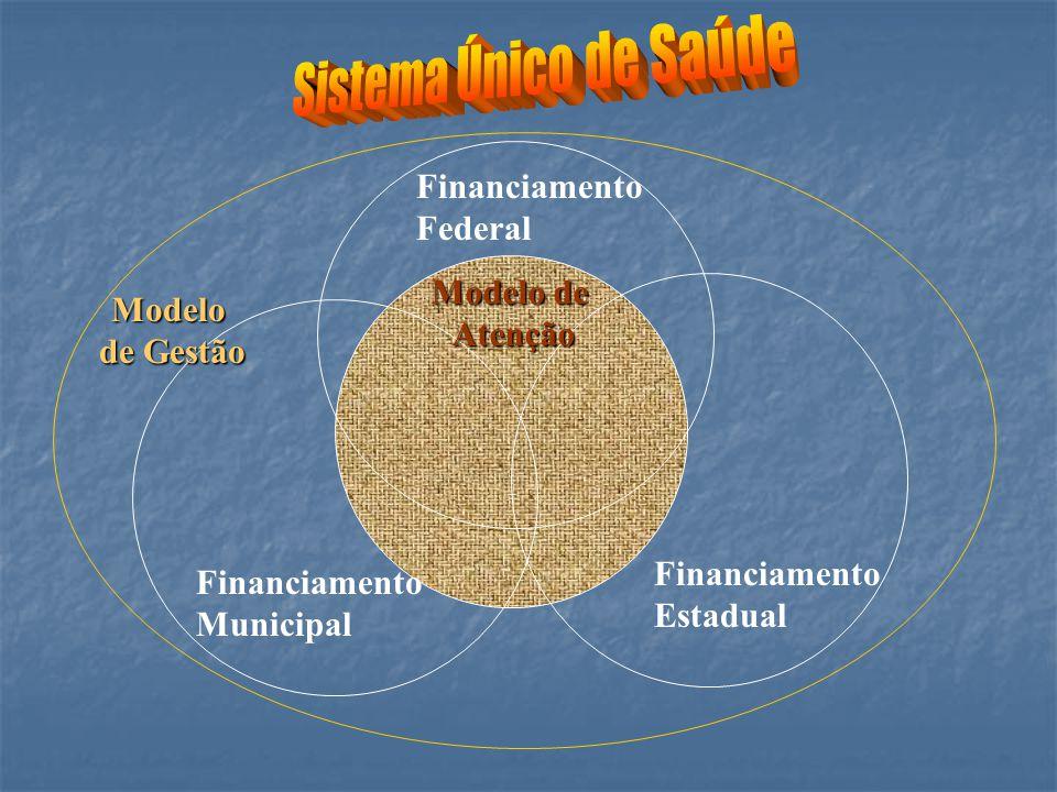 Financiamento Estadual Financiamento Municipal Financiamento Federal Modelo de Atenção Modelo de Gestão de Gestão