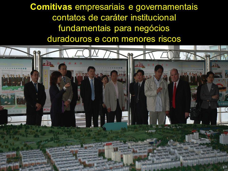 Comitivas empresariais e governamentais contatos de caráter institucional fundamentais para negócios duradouros e com menores riscos
