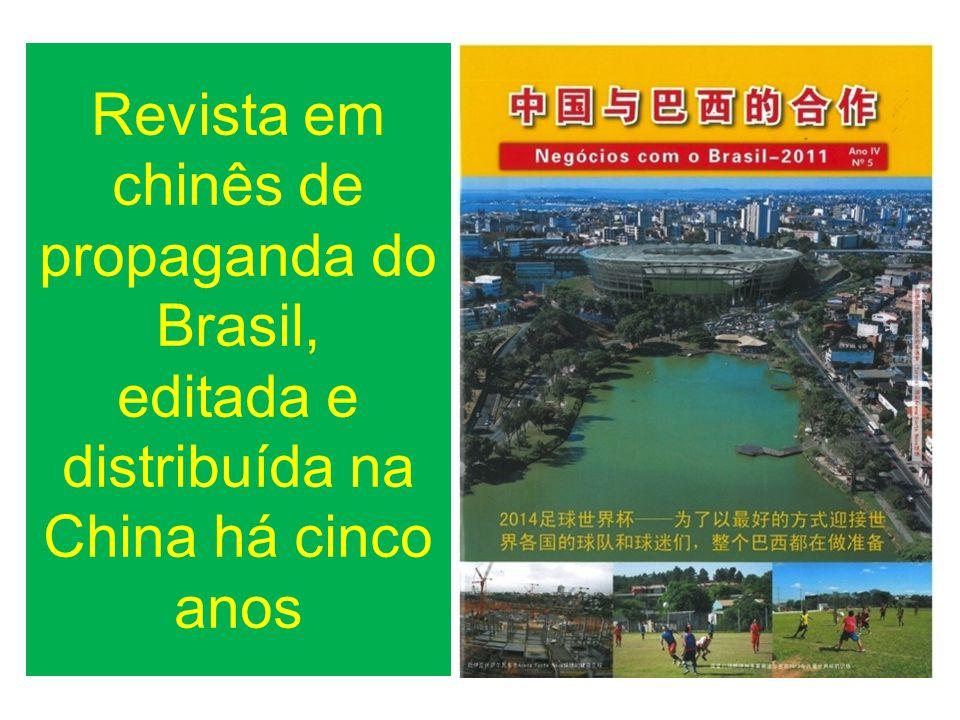 Revista em chinês de propaganda do Brasil, editada e distribuída na China há cinco anos