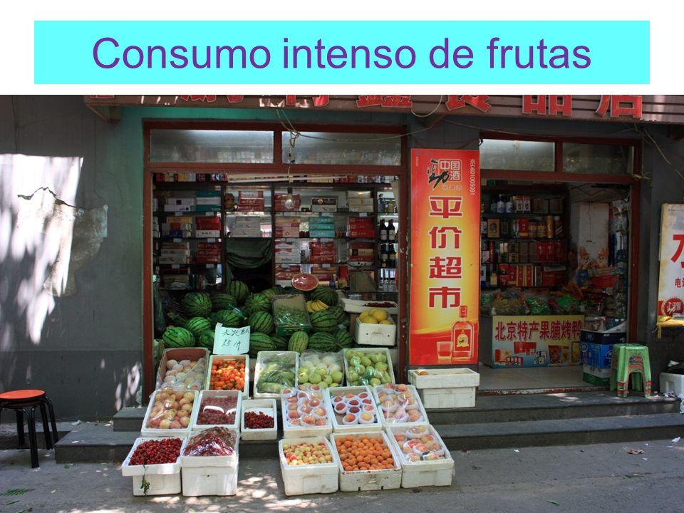Consumo intenso de frutas