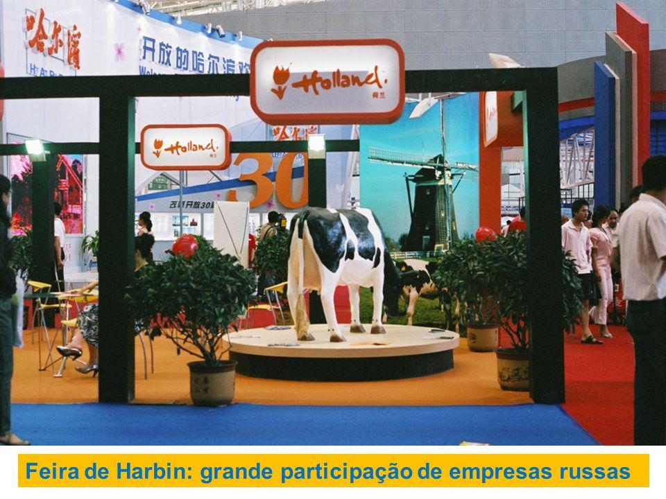 Feira de Harbin: grande participação de empresas russas