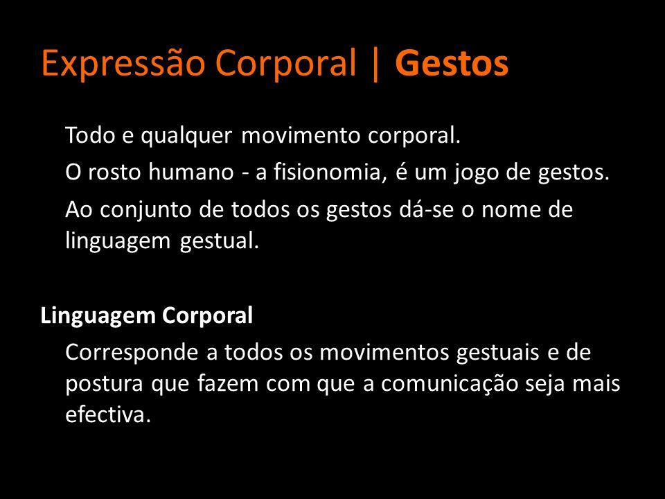 Expressão Corporal | Gestos Todo e qualquer movimento corporal.