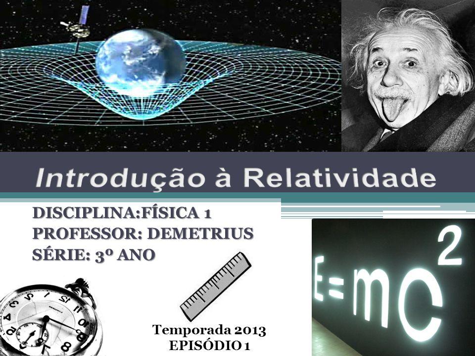 DISCIPLINA:FÍSICA 1 PROFESSOR: DEMETRIUS SÉRIE: 3º ANO Temporada 2013 EPISÓDIO 1